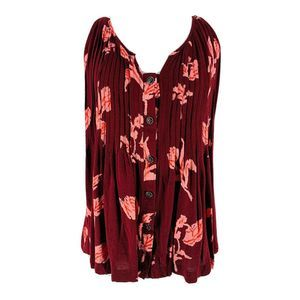 Maeve Maroon Floral Soana Floral Swing Blouse 8